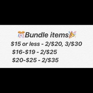 Bundle deals!!!!!